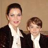 Ирина Дмитракова с сыном Александром в Париже