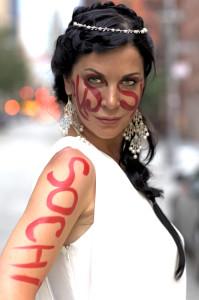 Ирина Дмитракова приняла участие в рекламной кампании Salamatina Galery, посвященного Олимпиаде в Сочи