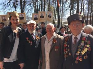 Празднование Дня Победы в подмосковном посёлке Правдинский